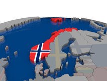 Norway with flag Stock Photos