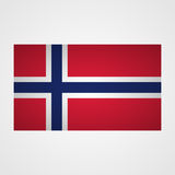 Norway flag on a gray background. Vector illustration Stock Photography