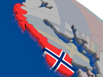 Norway with flag Stock Images