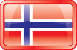 Norway Flag Icon. Norway Flag. Glass Style. Vector available Stock Image