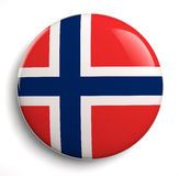 Norway flag. Icon. Clipping path included Royalty Free Stock Images