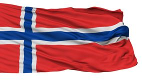 Norway Flag, Isolated On White vector illustration