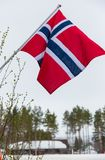 Norway flag. In norwagian national day royalty free stock image