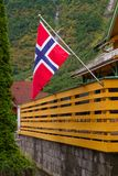 Norway flag. Flag of Norway, outside. Norway flag. Flag of Norway, outside royalty free stock photo