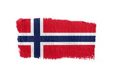 Norway flag painted with a brush stroke stock illustration