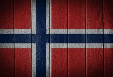 Norway flag. Painted on old wood plank background stock photos