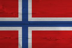 Norway flag painted on old wood plank. Patriotic background. National flag of Norway royalty free stock images
