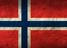 Norway Flag on Paper. Flag on an old Paper Texture Stock Images