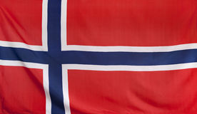 Norway Flag real fabric Royalty Free Stock Photo