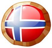 Norway flag on round frame. Illustration Royalty Free Stock Image