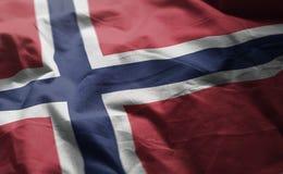 Norway Flag Rumpled Close Up.  stock photos