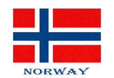 Norway flag, Scandinavian country, isolated Norwegian banner with scratched texture, grunge. Norway flag, Scandinavian country. Isolated Norwegian banner with stock illustration