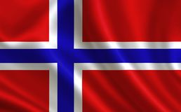 Norway flag. A series of `Flags of the world.`. Norway flag.  A series of `Flags of the world Royalty Free Illustration