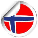 Norway flag in sticker design Stock Image