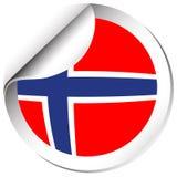 Norway flag in sticker design. Illustration Stock Image