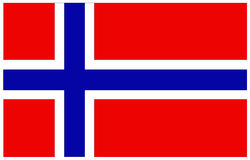 Norway flag. Vector file of Norway flag royalty free illustration