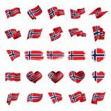 Norway flag, vector illustration. On a white background stock illustration