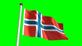 Norway flag stock footage