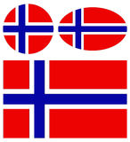 Norway flags Stock Image