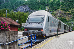 NORWAY, FLAM RAILWAY TRAIN Stock Images