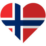 Norway flat heart flag Stock Photo