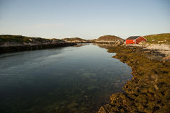 Norway Froya. Froya house view in Norway Royalty Free Stock Photos