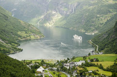 Norway - Geiranger Fjord View Royalty Free Stock Photo