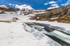 Folgefonna frozen lake Royalty Free Stock Image