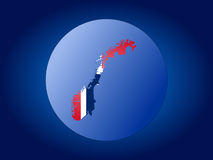 Norway globe. Map and flag of Norway globe illustration Royalty Free Stock Image