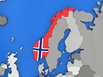 Norway on globe Royalty Free Stock Photography