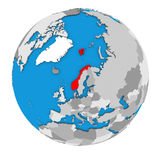 Norway on globe Stock Photos
