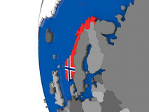 Norway on globe Royalty Free Stock Images