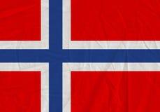 Norway grunge flag. Patriotic background. National flag of Norway stock illustration