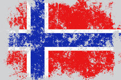 Norway grunge, old, scratched style flag Royalty Free Stock Images