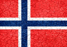 Norway Grunge Style National Flag Royalty Free Stock Photography