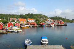 Norway harbor Royalty Free Stock Photo