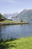 Norway - Hellesylt - Travel destination for cruise ships Royalty Free Stock Photos