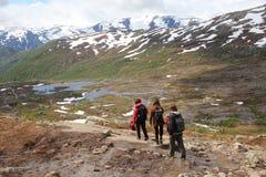 Norway hike Stock Image