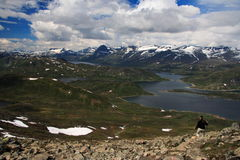 Norway hiking Stock Photography