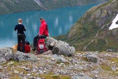 Norway hiking Stock Photos