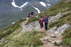 Norway hiking trail Stock Images