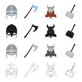Norway, history, museum and other web icon in cartoon style.Cannon, battle, attributes,icons in set collection. royalty free illustration