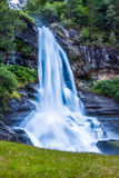 Norway, Hordaland county. Famous Steinsdalsfossen waterfall. Sca Royalty Free Stock Images