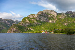 Norway huts Royalty Free Stock Photography