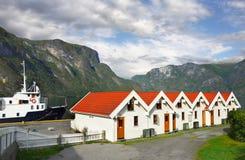 Norway Huts,  Ship Harbor Stock Photo