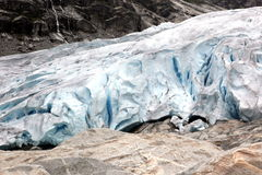 Norway, Jostedalsbreen National Park. Famous Briksdalsbreen glac Royalty Free Stock Photo