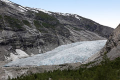 Norway, Jostedalsbreen National Park. Famous Briksdalsbreen glac Royalty Free Stock Image