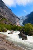 norway Jour d'été à un glacier Briksdal image libre de droits