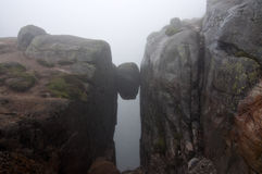 Norway, Kjerag or Kjeragbolten Royalty Free Stock Image