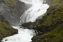 Norway: kjosfossen waterfall Royalty Free Stock Image
